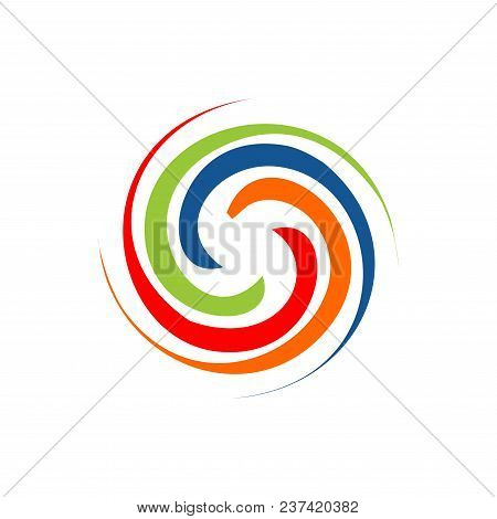 Abstract circle swirl vector element. swirl template. Hurricane indication. Graphic banner of hurricane warning. Icon, sign, symbol, indication of the hurricane, vortex, tornado