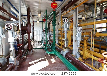 Industrial Interior In Oil And Gas Processing