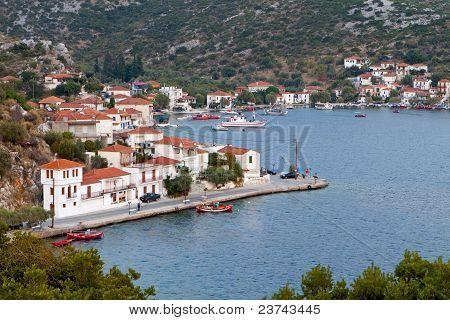 Agia Kyriaki traditional Greek fishing village at Trikeri of Pelion in Greece poster