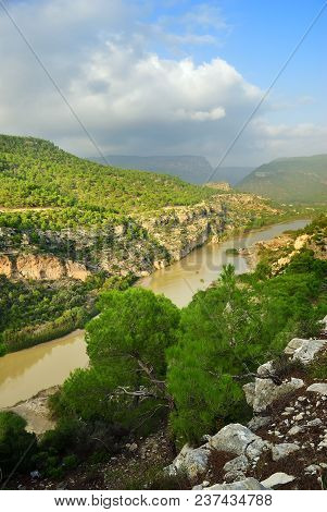 Goksu river landscape, Turkey. Place where in 1190, while on the Third Crusade, Emperor Frederick Barbarossa drowned in the river poster