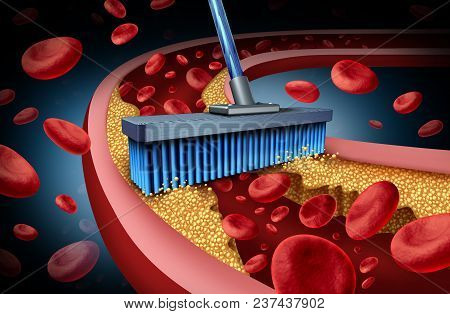 Chelation Medicine Treatment And Alternative Therapy For Heart Disease Concept For Human Blood Circu