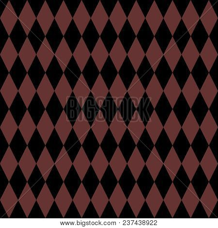 Tile Black And Brown Background Or Vector Pattern