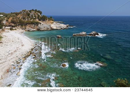 Damouchari beach at Pelion in Greece