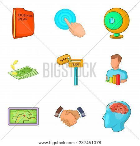 Application Designer Icons Set. Cartoon Set Of 9 Application Designer Vector Icons For Web Isolated