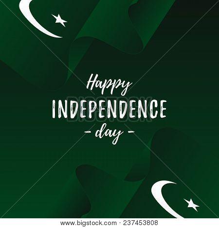 Banner Or Poster Of Pakistan Independence Day Celebration. Pakistan Flag. Vector Illustration.