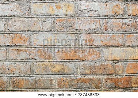 Abstract Weathered Texture Stained Old Stucco Light Gray And Aged Paint White Brick Wall Background