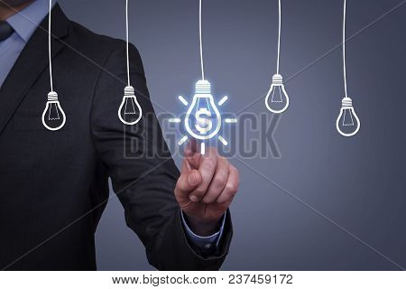 Innovative Idea Finance Solution Concepts On Touch Screen