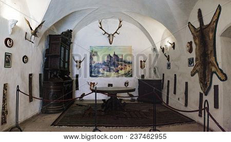 Hunedoara, Romania - September 27, 2017: Corvin Castle Is A Gothic-renaissance Castle In Hunedoara,
