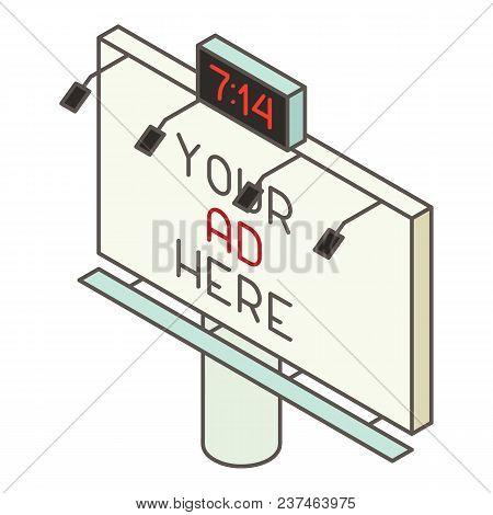 Billboard Icon. Isometric Illustration Of Billboard Vector Icon For Web