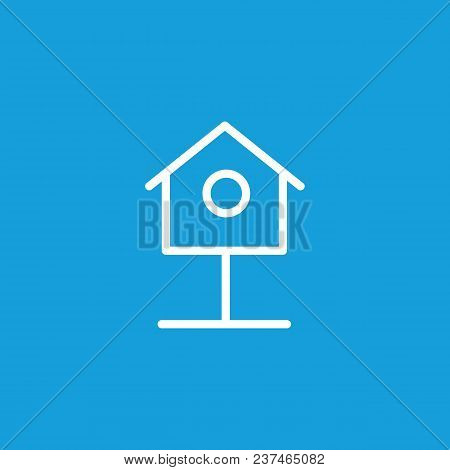 Icon Of Nest Box. Birdhouse, Nestling, Shelter. Environment Concept. Can Be Used For Topics Like Bir