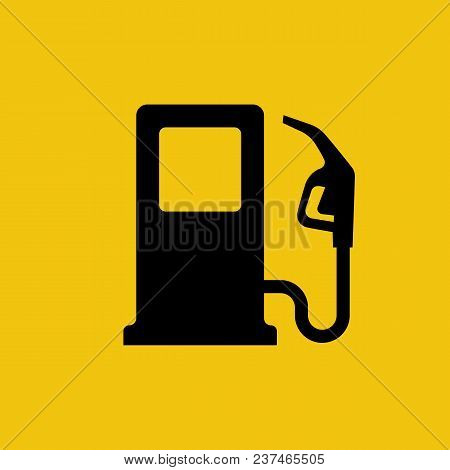 Gas Pump Icon. Fuel Pump. Petrol Station Sign. Gasoline Nozzle. Fuel Background. Vector Illustration