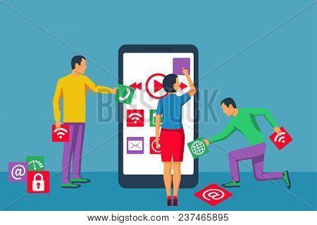 Interface Development, Design Mobile App. Mobile Technology. Team Small People, Programmer Building