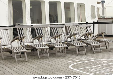Wooden Lounge Deck Chairs