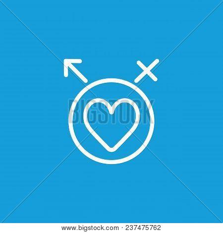 Line Icon Heart Circle Male Female Vector Photo Bigstock