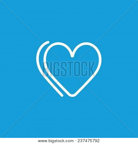 Line Icon Of Hearts. Valentine Day, Passion, Affection. Love Concept. Can Be Used For Topics Like Re