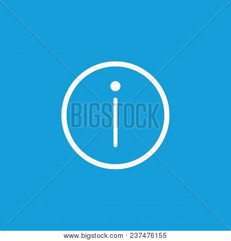 Line Icon Of Information Sign. Warning, Help, Manual. Symbols Concept. Can Be Used For Web Pictogram