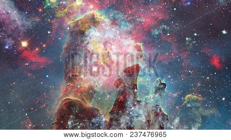 Group Of Bright Massive Stars In The Nebula. Elements Of This Image Furnished By Nasa.