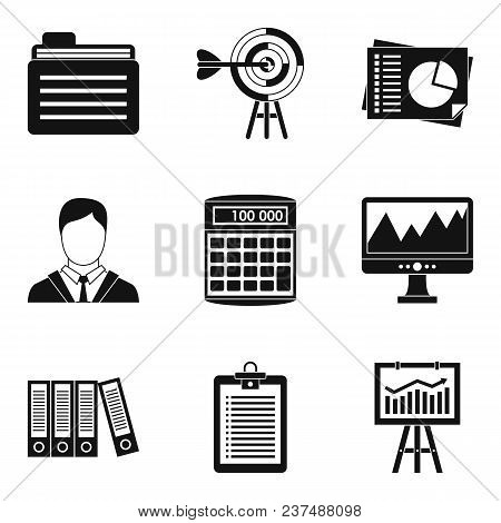 Dedicated Computer Icons Set. Simple Set Of 9 Dedicated Computer Vector Icons For Web Isolated On Wh