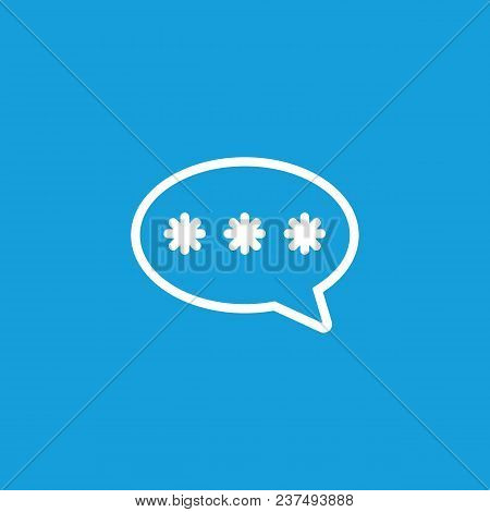 Icon Of Three Asterisks In Speech Bubble. Typing, Chat, Message. Communication Concept. Can Be Used