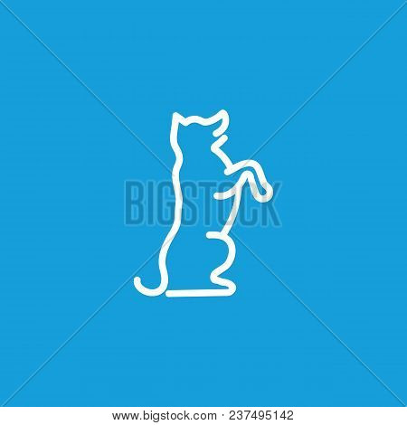 Icon Of Trick Dog. Pet, Animal, School. Animal Care Concept. Can Be Used For Topics Like Veterinary,