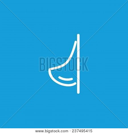 Line Icon Of Urinal. Mens Room, Restroom, Public Toilet. Water Closet Concept. Can Be Used For Topic