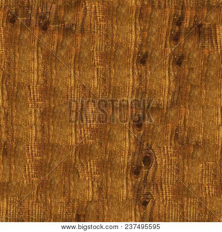 Seamless Texture Background Of Dark Brown Wood.