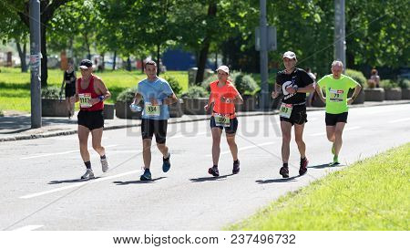 Belgrade, Serbia - April 21, 2018: Many Athletes From Different Countries Taking Part In 31st Belgra
