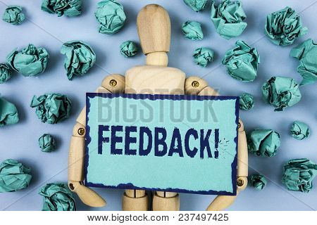 Word Writing Text Feedback Motivational Call. Business Concept For Rating An Economical Local Grocer