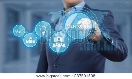 Mentoring Business Motivation Coaching Success Career Concept.