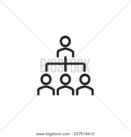 Corporate Hierarchy Line Icon. Flow, Tree, Workflow. Human Resource Concept. Can Be Used For Topics