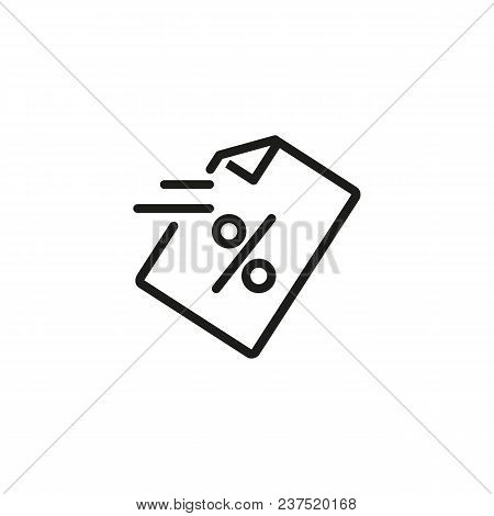 Loan Document Line Icon. Notification, Percent, Agreement. Loan Concept. Can Be Used For Topics Like