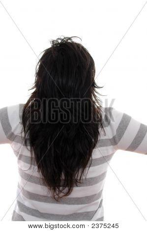 Brow Hair Of Beautiful Girl