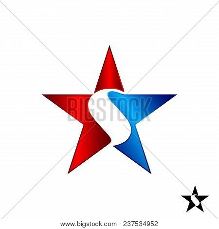Letter S Star Color Vector Logo,star Color Icon, Star Rating, Rank. Star Astrology Symbol. Star Icon