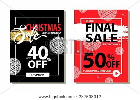 Christmas Sale Holiday Discount Final Prices 50 Off For Limited Time Only Poster With Frame And Brus