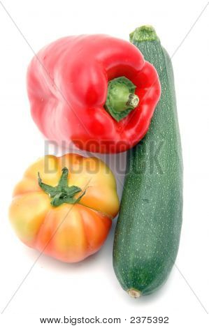 Red Pepper, Tomato And Courgette