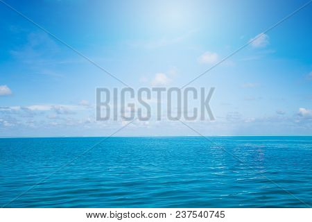 Ocean Nature Background. Sea And Summer Landscape.