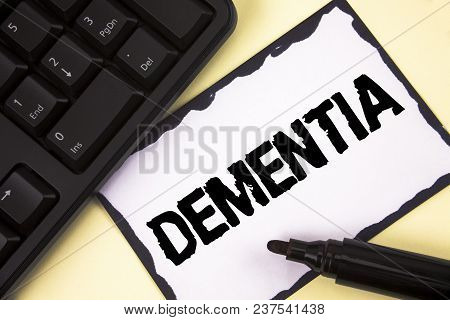 Conceptual Hand Writing Showing Dementia. Business Photo Text Long Term Memory Loss Sign And Symptom