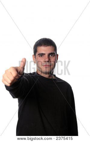 Young Man Thumb Up