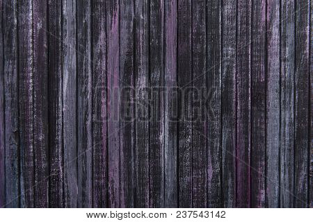 Wooden Background. Background For Design. A Place For A Label. Place For Text. Dark Background. Hori