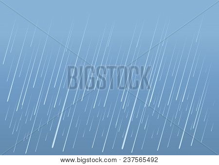 Rain Drops Background.vector Image Of Wet Day