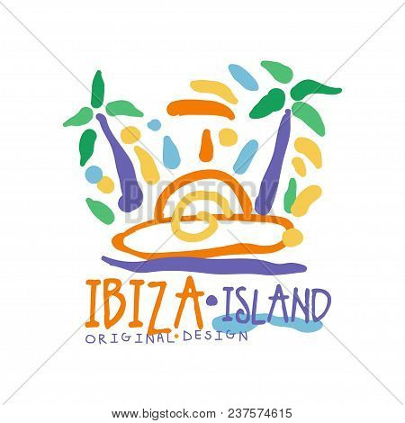 Ibiza Island Logo Template Original Design, Exotic Summer Holiday Badge, Label For A Travel Agency,