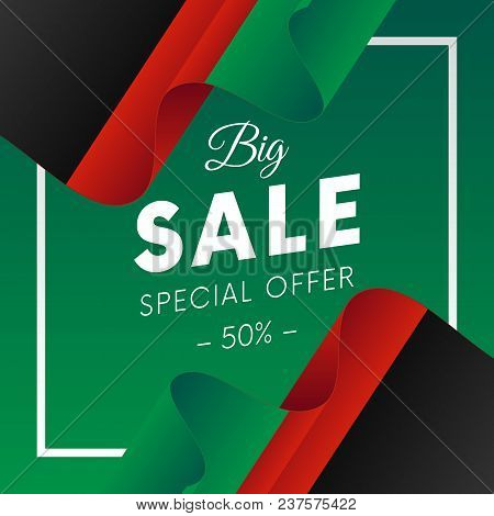 Big Sale Banner Or Sticker. Special Offer. Fifty Percent Off. Afghanistan Flag. Vector Illustration.