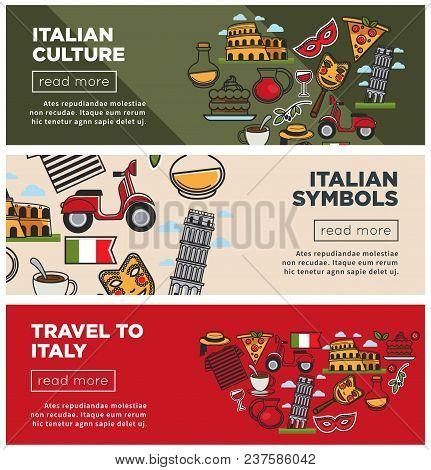 Italian Culture Symbols On Vector Photo Bigstock