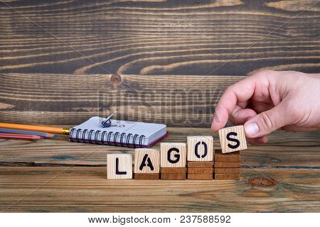 Lagos, A City In Nigeria Where Many Millions Of People Live. Background For Growing And Successful C