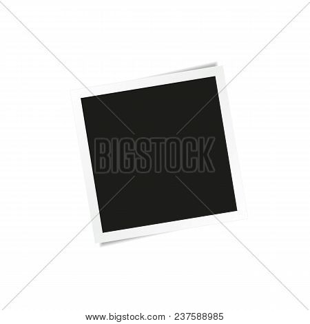 Square Photo Frame Template On White Background