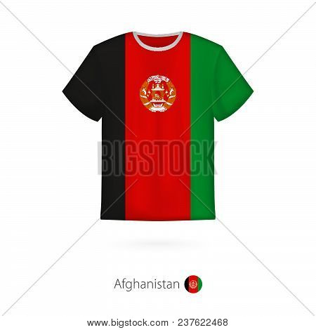 T-shirt Design With Flag Of Afghanistan. T-shirt Vector Template.