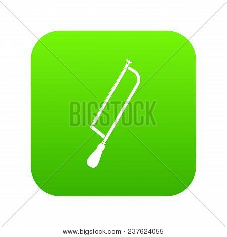 Amputation And Surgical Saw Icon Digital Green For Any Design Isolated On White Vector Illustration