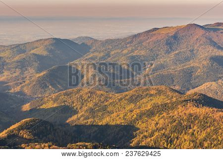 French Landscape - Vosges. View From The Grand Ballon In The Vosges (france) Towards The Jura And Al