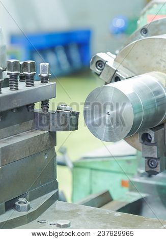 Drilling And Turning Metal By Turning And Lathe Machine