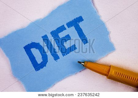 Text Sign Showing Diet. Conceptual Photo Dietitians Create Meal Plans To Adopt And Maintain Healthy